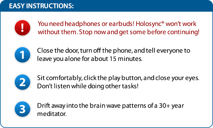 holosync awakening prologue instructions